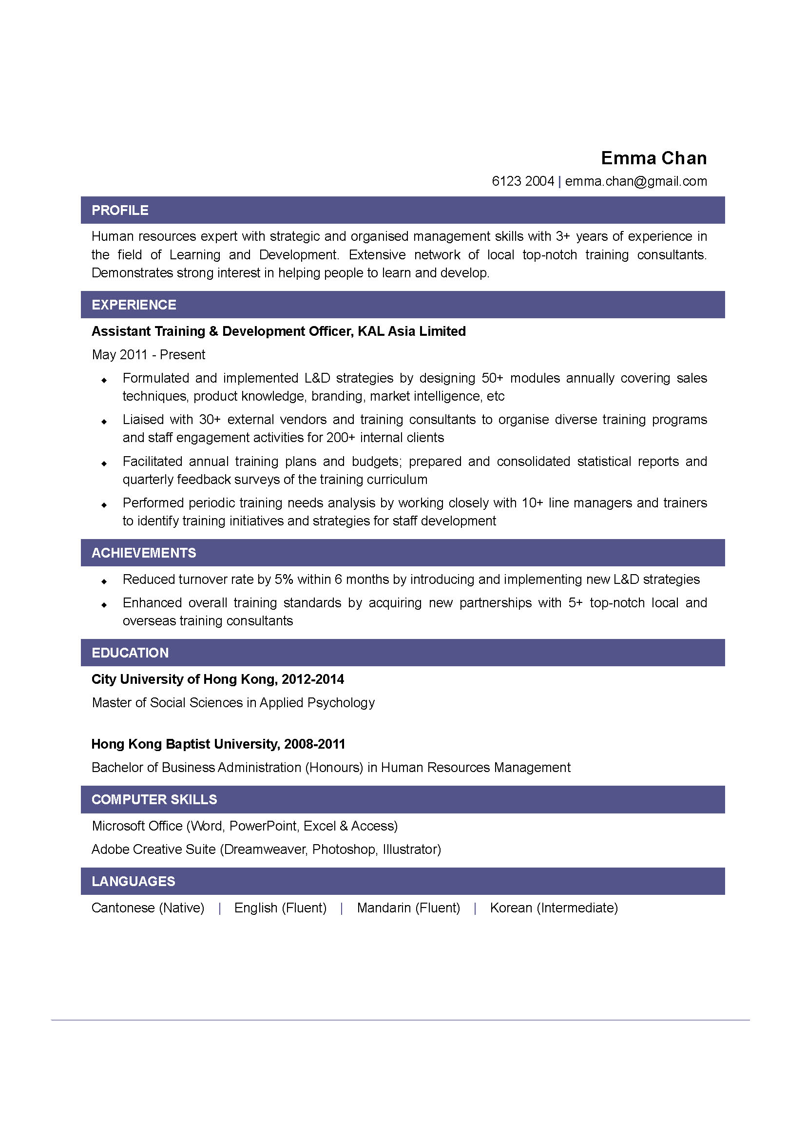 Training Development Officer Cv Ctgoodjobs Powered By Career Times .